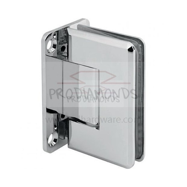 Heavy Duty Beveled Edges Wall Mount Full Back Plate Shower Door Hinge
