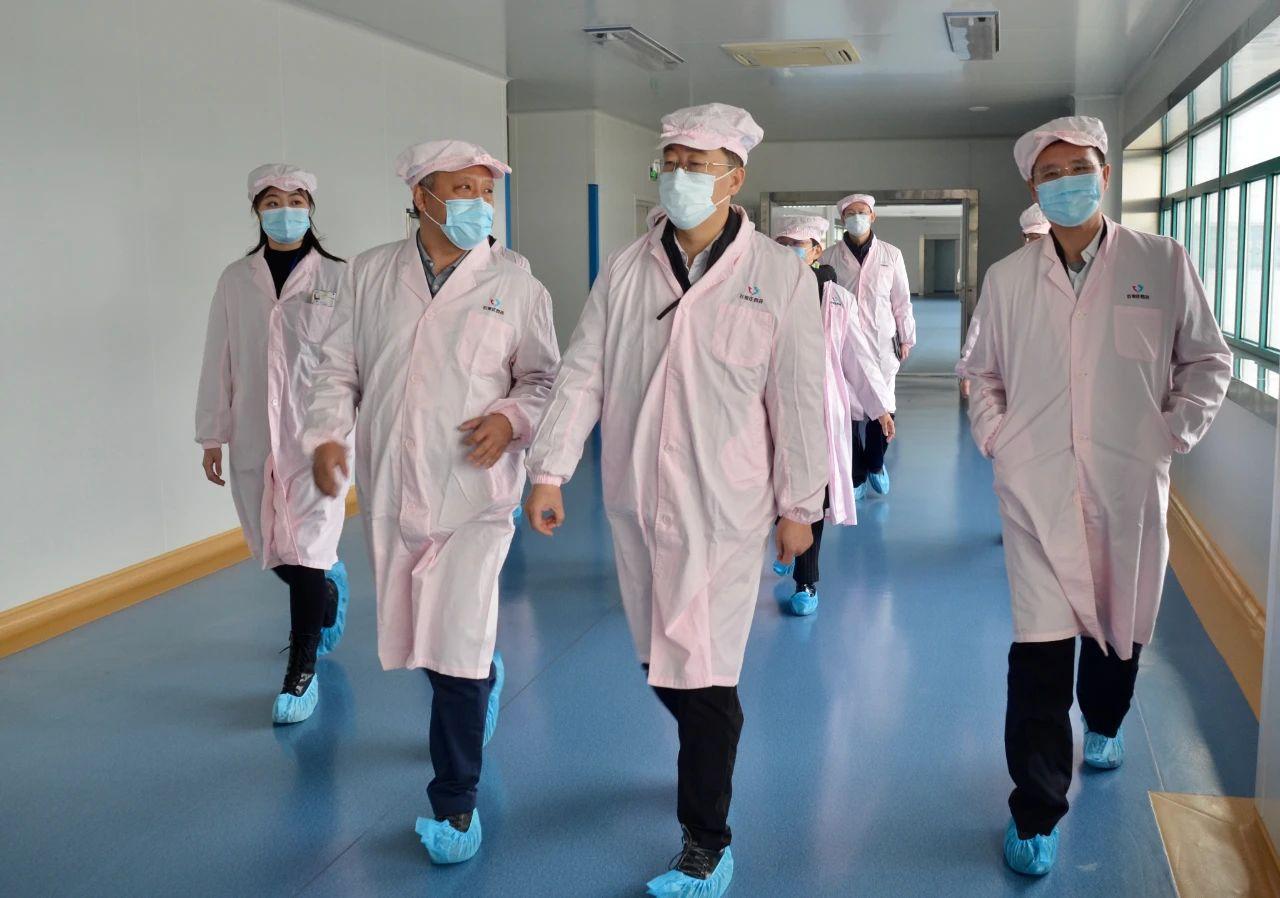 副省長葛海蛟到石家莊四藥集團檢查抗疫物資供應保障情況