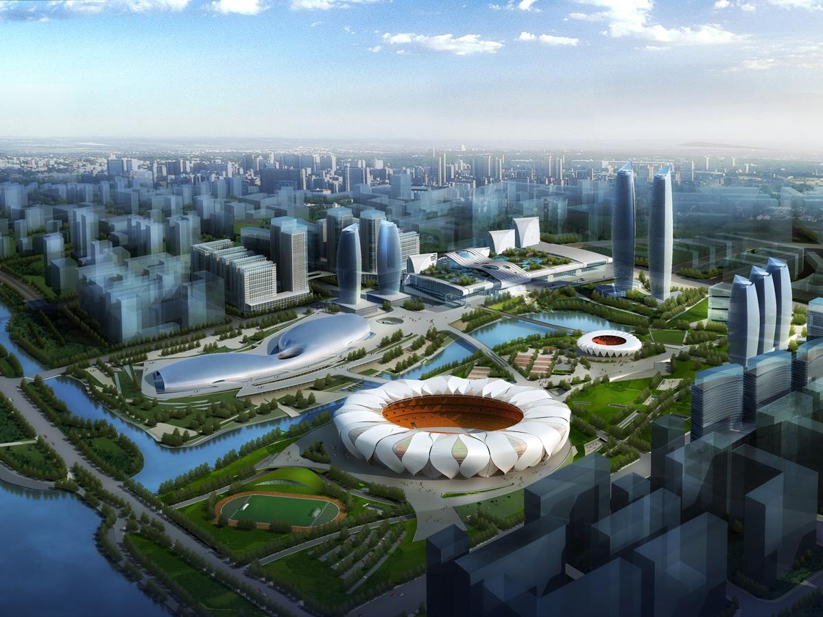 杭州奧體博覽城鳥瞰圖