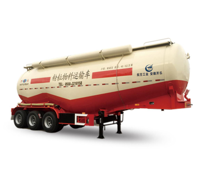 Horizontal powder tank semi - trailer ( double  cabin )