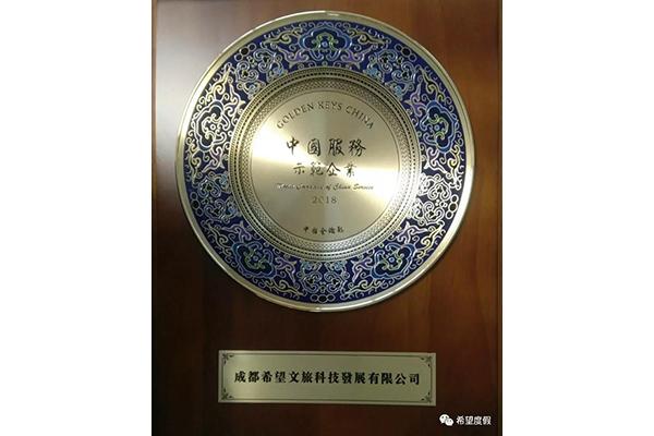 """""""中国服务示范企业""""奖"""