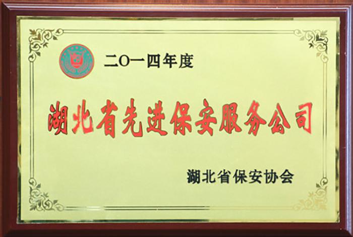 2014年度湖北省先进保安服务公司
