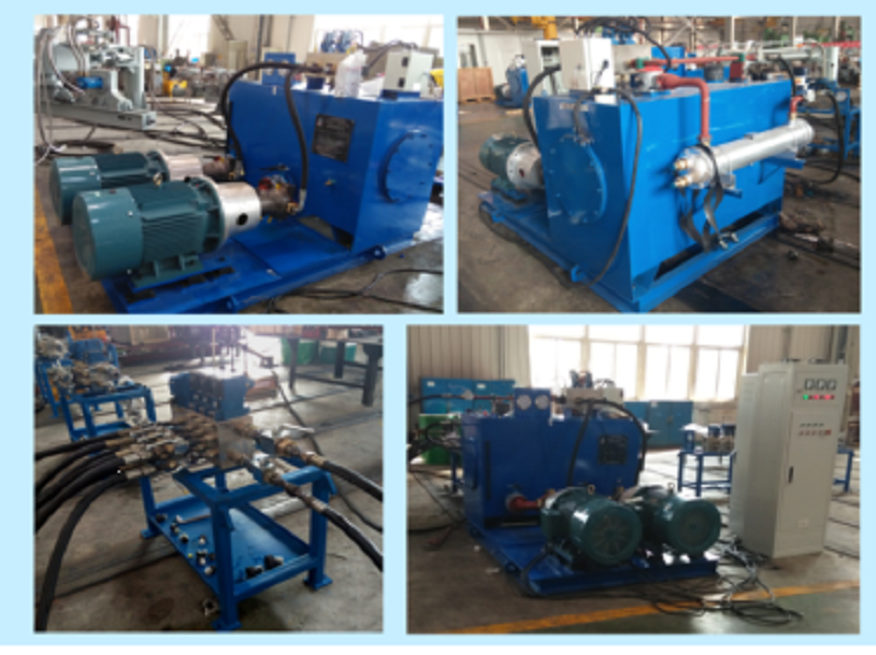 Hydraulic station in front of calcium carbide furnace