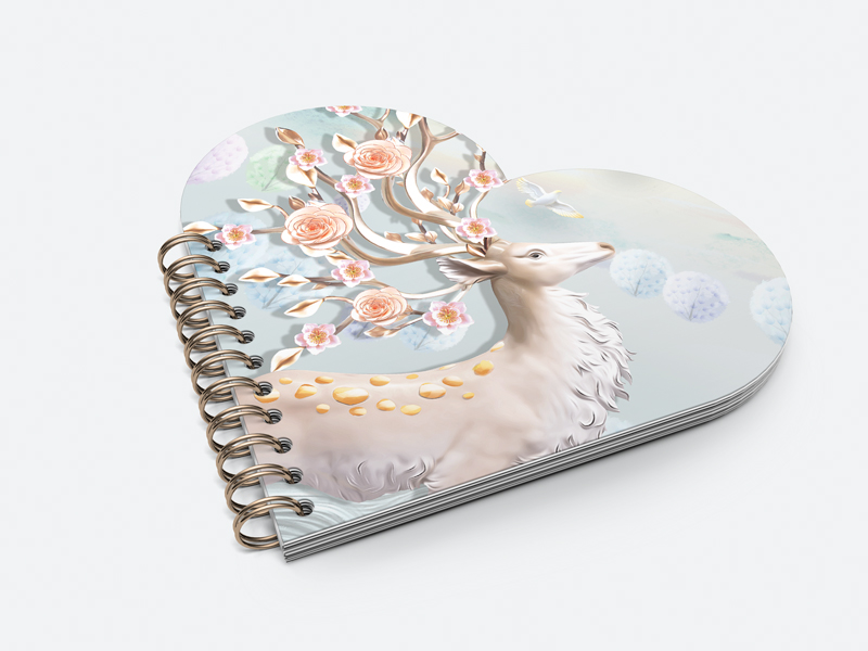 3D lenticular printing cover notebook
