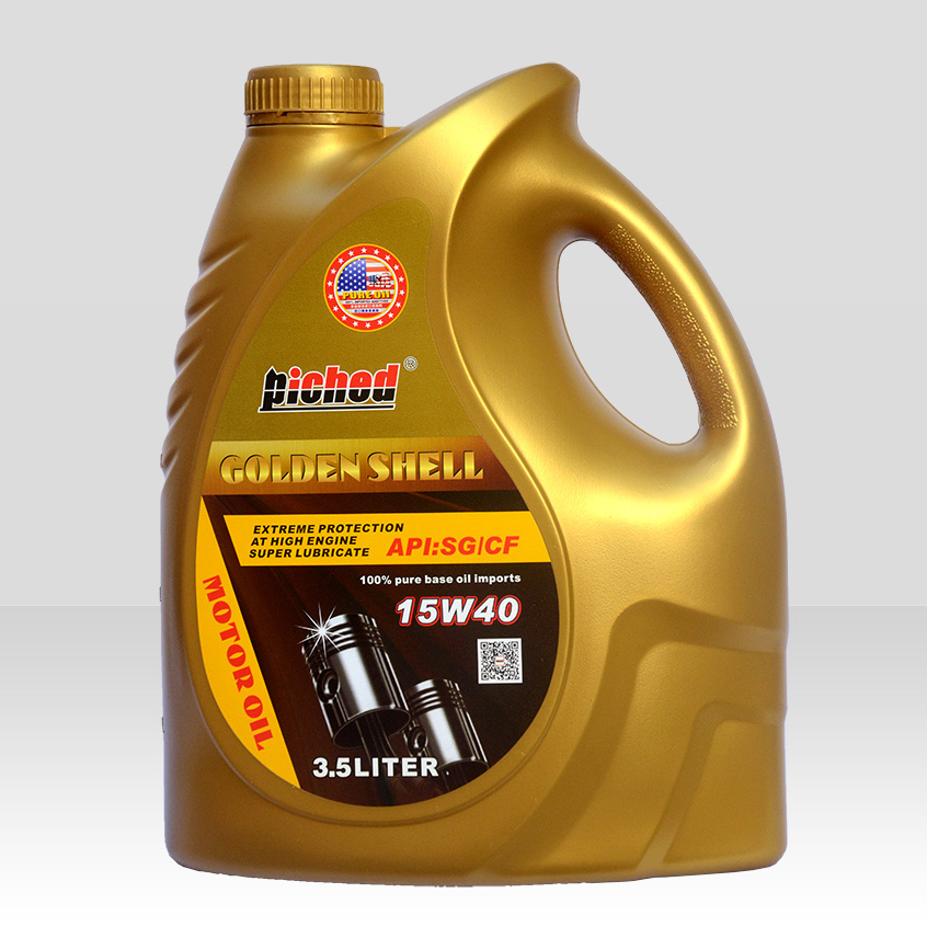 Lubricant lucringcating oil-Motor oil-金壳SG-CF-15W40_3.5L-F