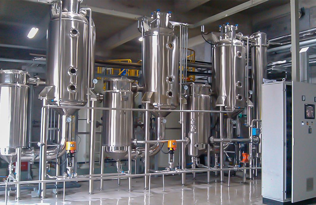 常熟日企磷酸廢水三效蒸發器裝置