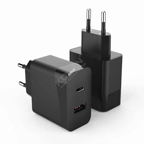 PD 30W US/EU Wall Charger Dual Port PD and QC