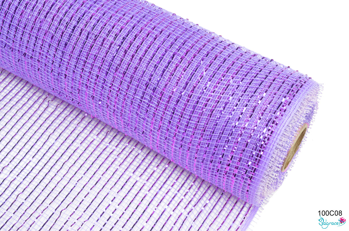 100 Regular Metallic Mesh 100C08 Lt.Purple Metallic In Lt. Purple PP