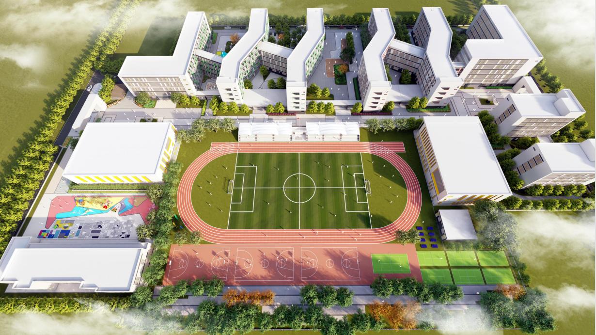 米脂縣北門川九年一貫制學校景觀設計