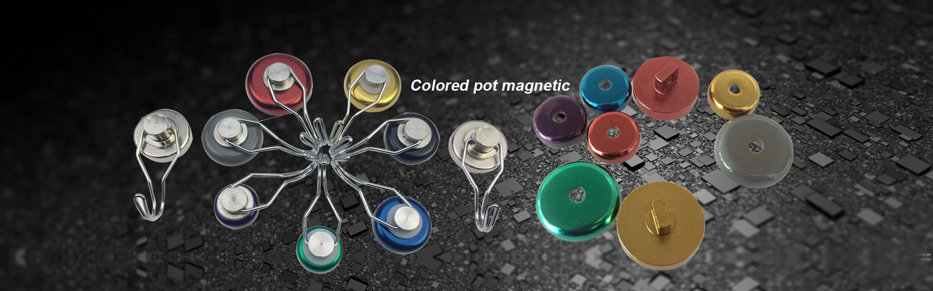 Colored Pot magnetic