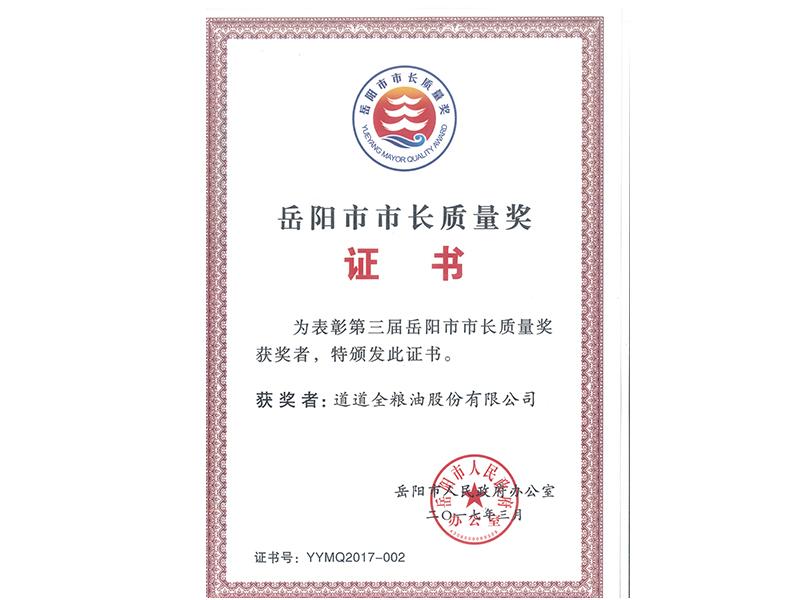 岳阳市市长质量奖
