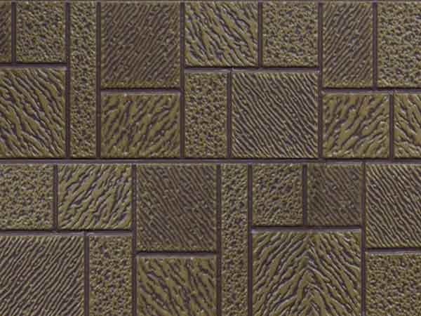 Light brown yellow overcoated earth yellow mosaic pattern (Z6-QZH12)