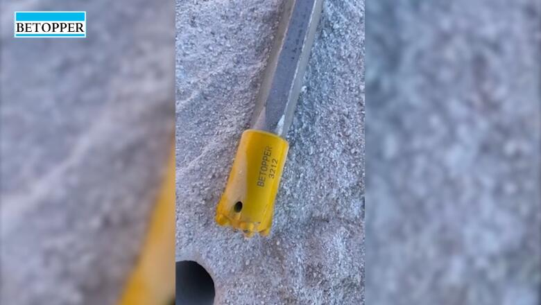 Video of taper drill rod and drill bit feedback from Russian customers of handheld rock drill 3