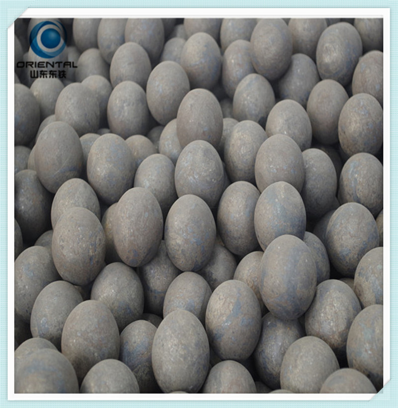 Grinding forged steel balls