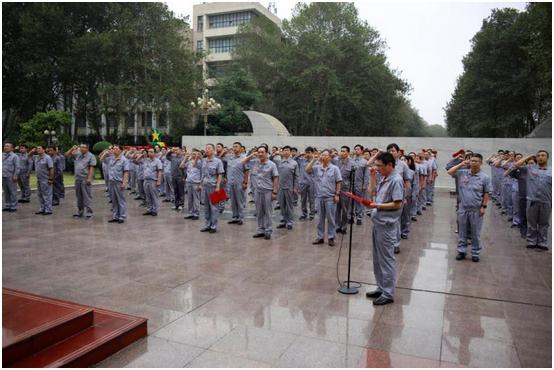 中鋼洛耐公司舉行升國旗儀式迎接國慶71周年