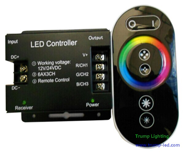 touchable RF remote RGB controller