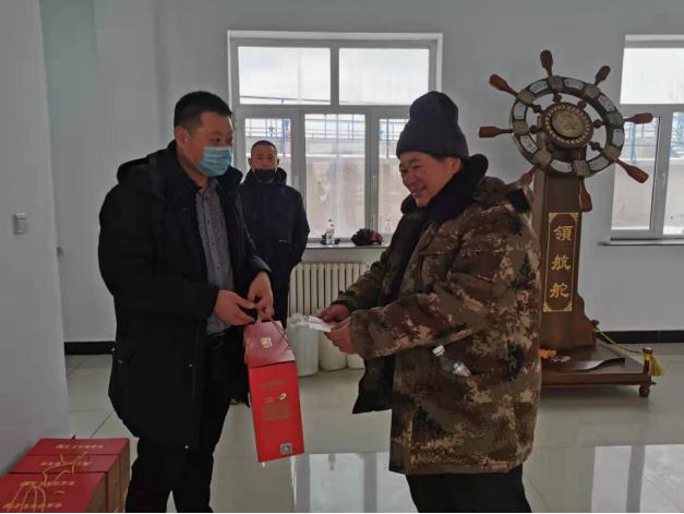 鶴崗污水處理廠春節走訪慰問 心系困難職工