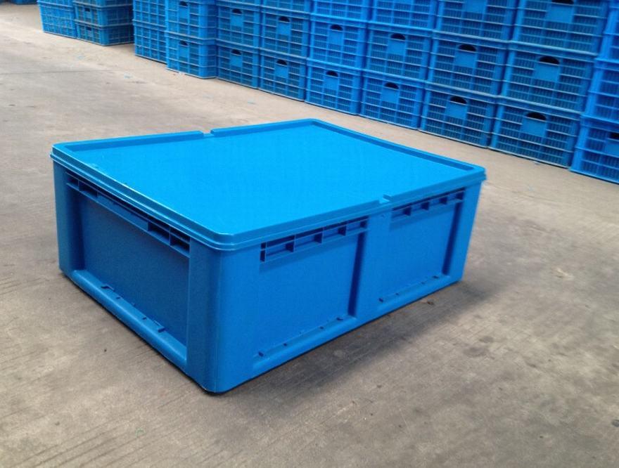 800-280物流箱平蓋藍色
