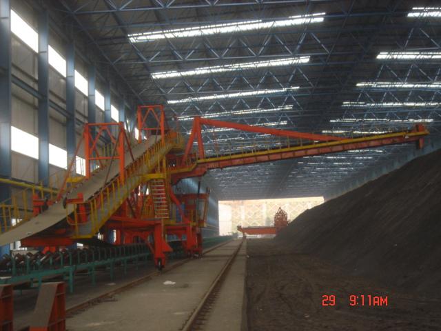 云南玉溪鋼廠 DBKH1200.20.05型混勻堆料機