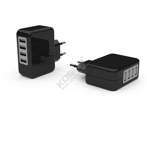 24W 4USB Ports European Wall Charger