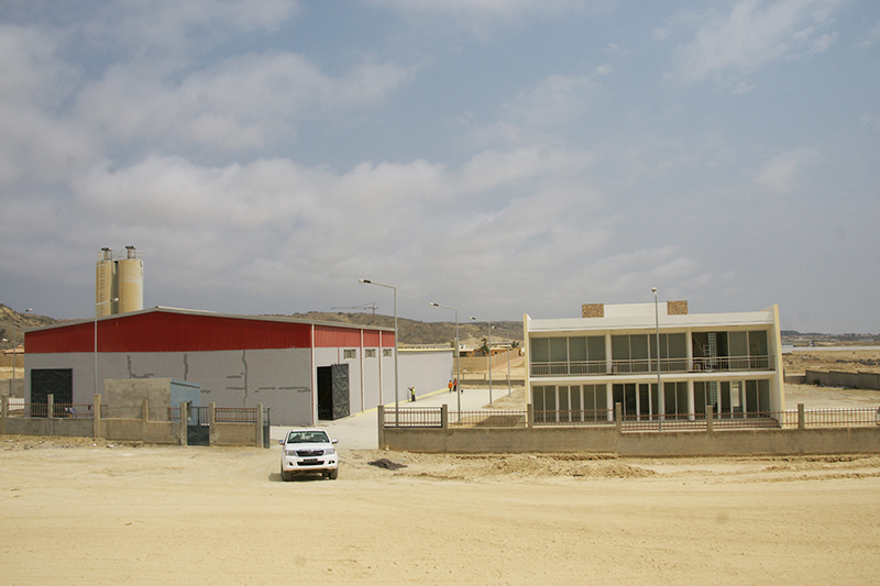 Lobito cement block factory (Angola )