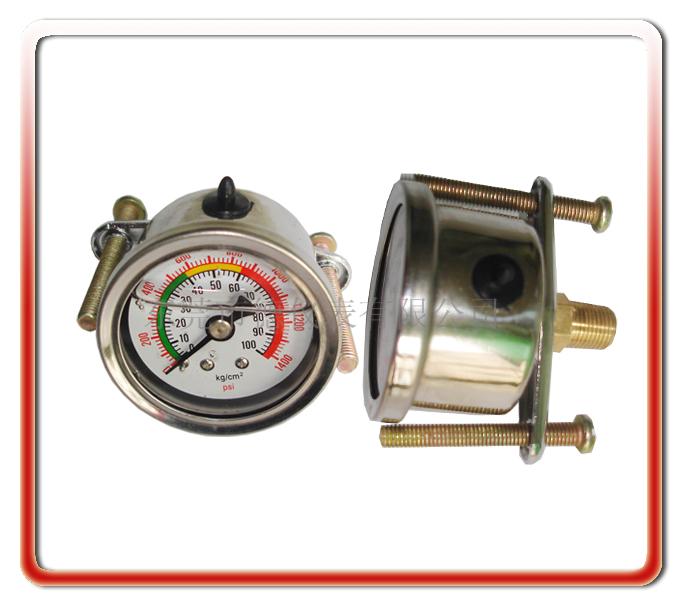 40MM軸向帶支架油壓表