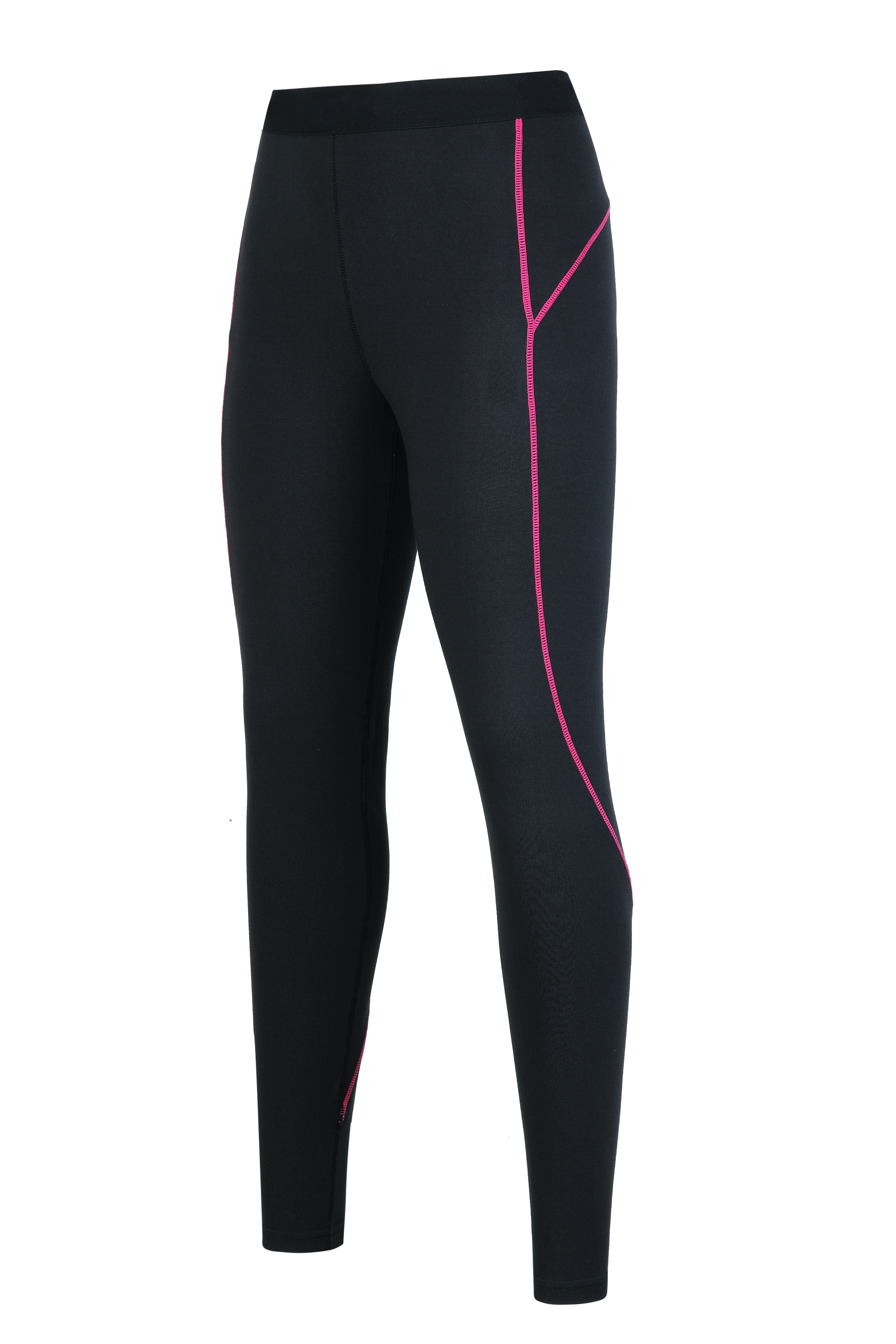 Women's knitted flat lock compression pants.
