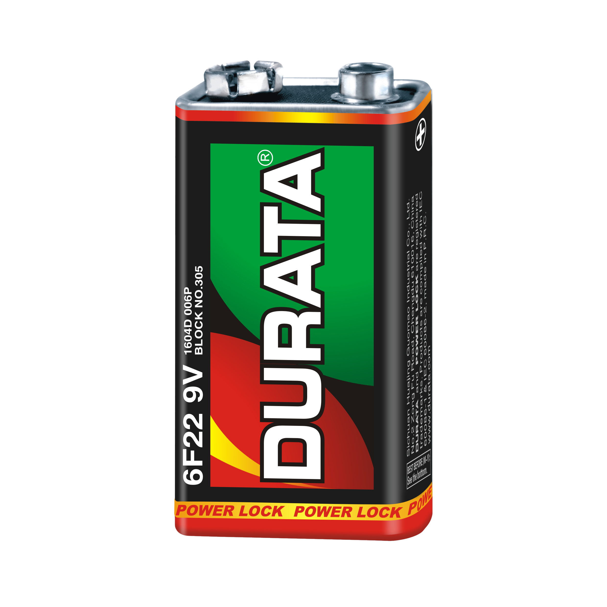 DURATA 9V - Shrink Pack 1 Battery