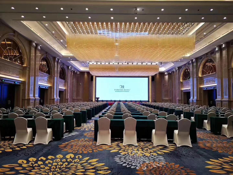 君芝友酒店專用桌布大圓桌餐桌臺布椅套餐廳飯店圓形宴會臺布椅套 實拍圖