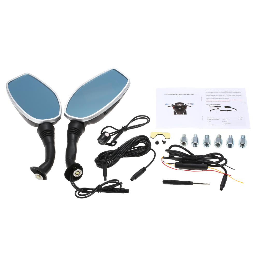 Motorcycle side mirror dual camera2