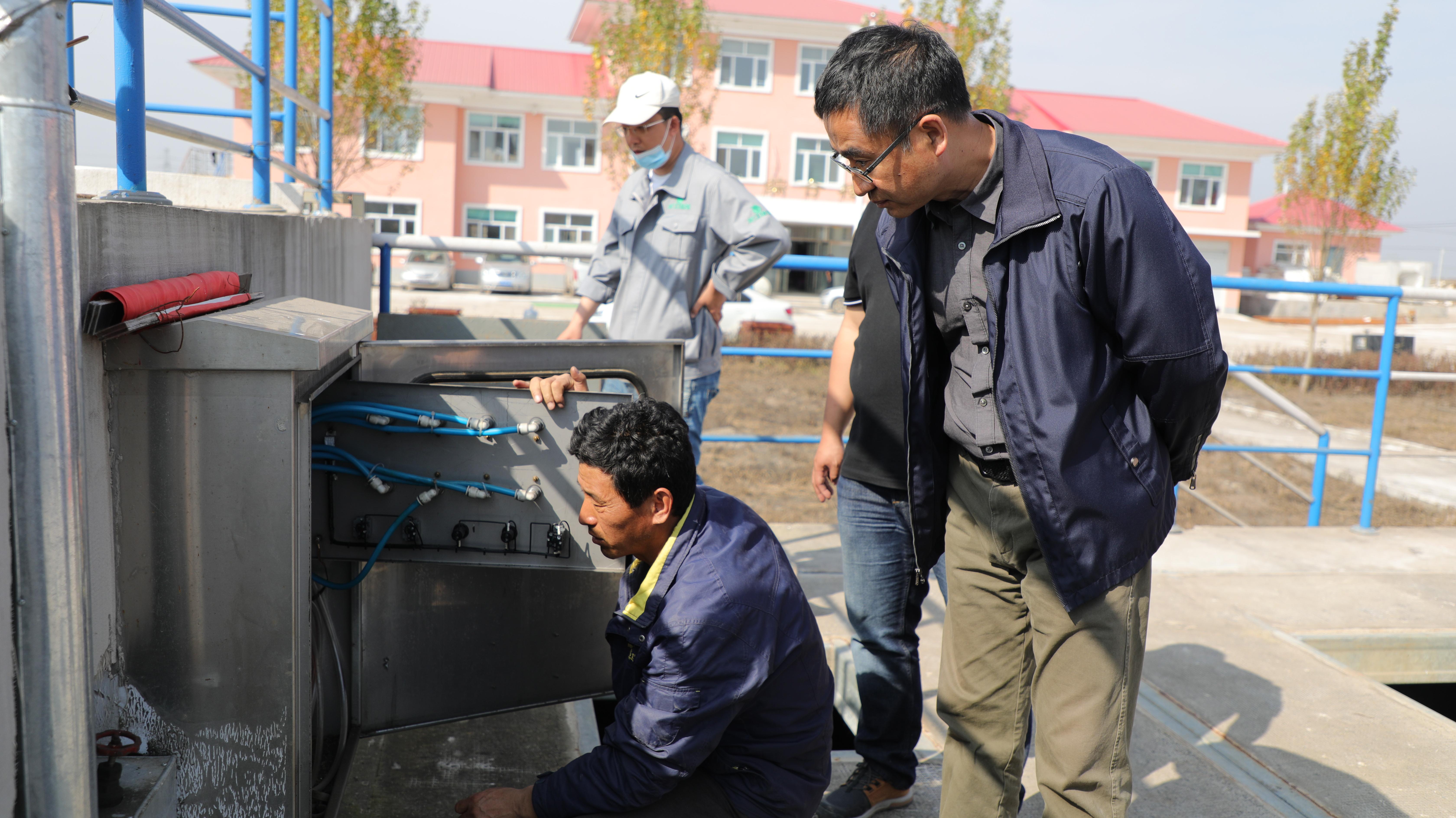 集团领导赴肇东第二污水处理厂指导灾后恢复生产工作