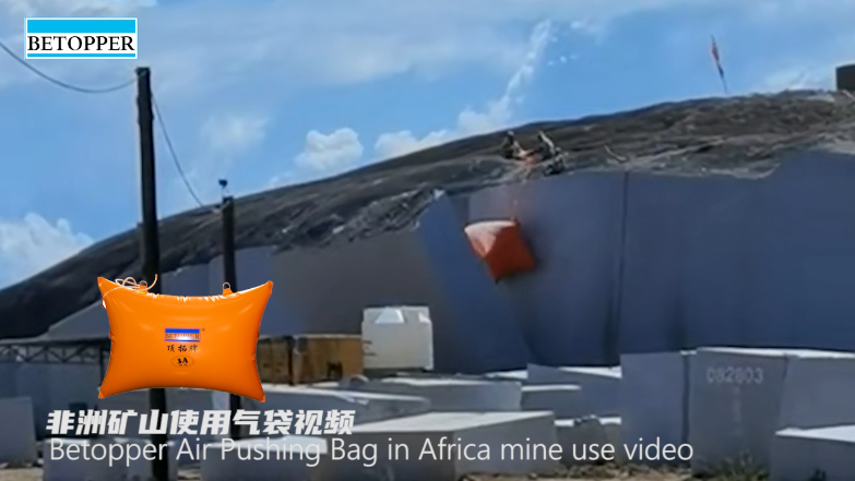 Betopper Air Pushing Bag in Africa mine use video