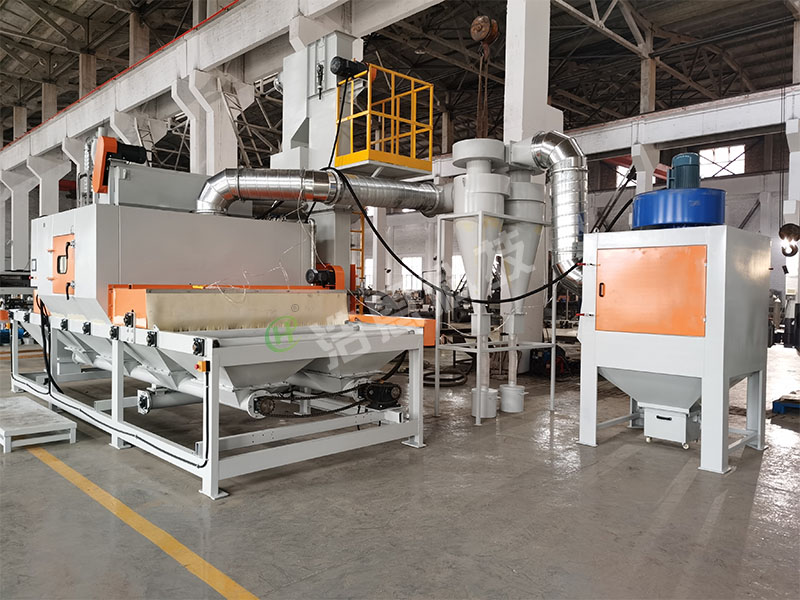 Shot blasting seriesConveying type automatic sand blasting machine series