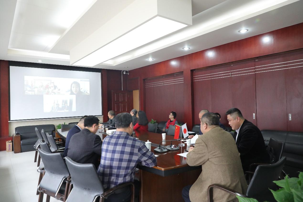 錦弘集團與日本YSC協同組合就青青園項目視頻連線