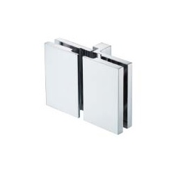 Square Shower door fitting for glass-glass lifting lowering mechanism