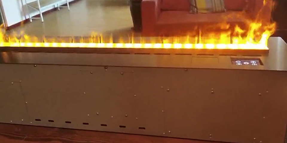Intelligent steam fireplaces with flame adjustable 3 levels and touching screen panel