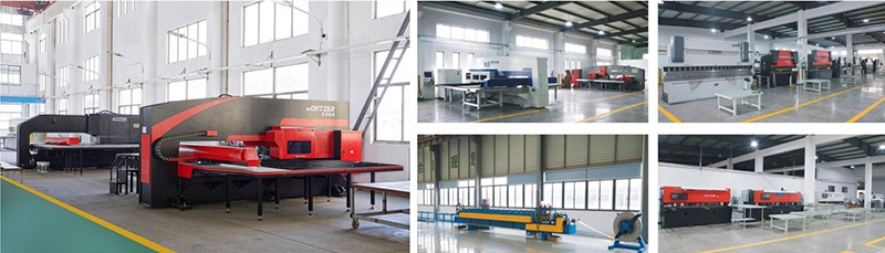 Independently designed and integrated sheet metal processing system