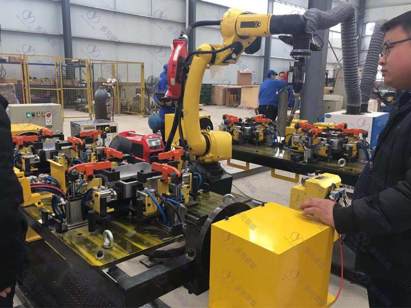 鋁件自動化機器人焊接工作站