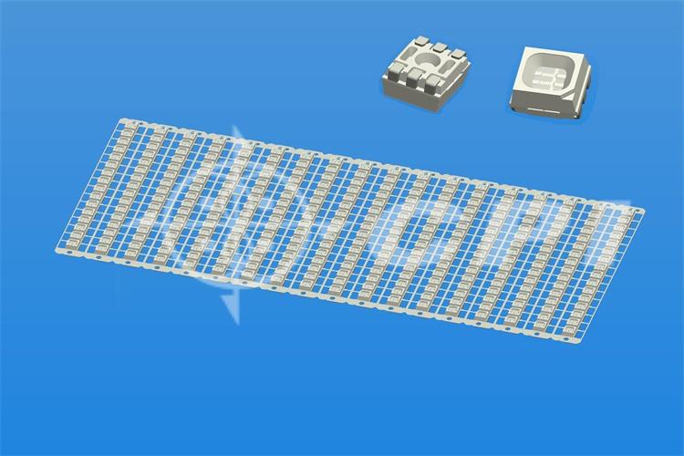 LED3535-16排拉伸0.8白膠刷黑方杯杯深0.85總高2.8小杯口(表面磨砂)   (16X18)   (L93401A)