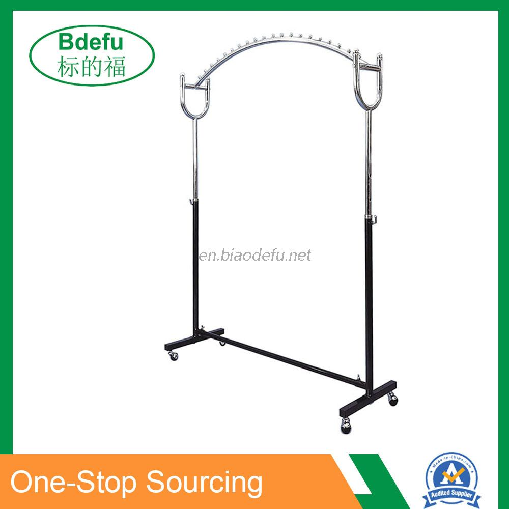 Arch Form Cloth Stand Rail with Beads Stop
