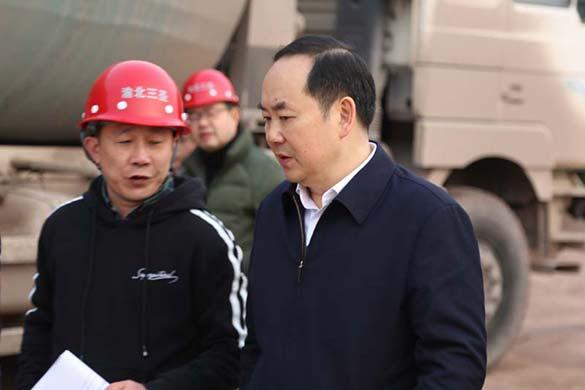 渝北区委书记、区长视察三圣装配式建筑产业基地建设