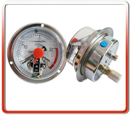 100MM軸向耐震電接點壓力表