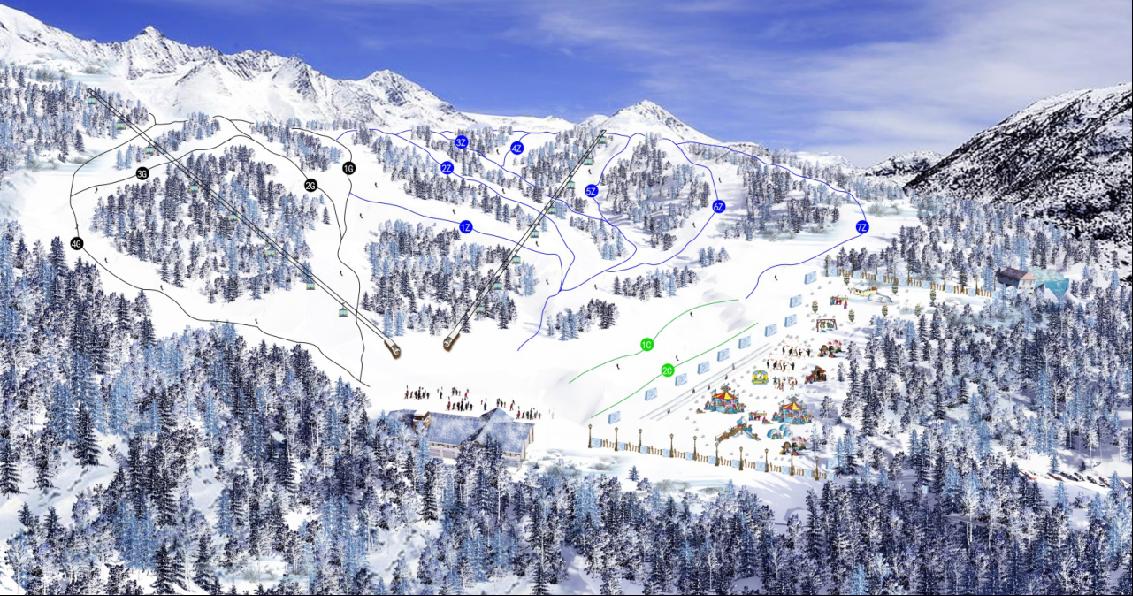 山西烏金山李寧國際滑雪場