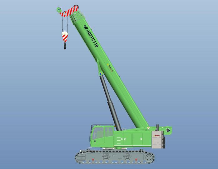 HDTC110伸縮臂履帶起重機