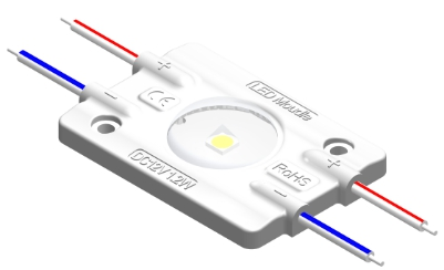MJW1A0D 1燈1.2W 3030帶光學透鏡160°注塑模組