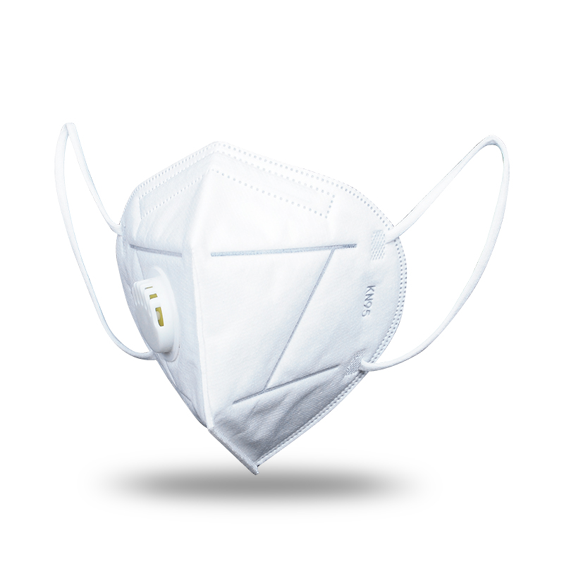 Folding type of protective mask  (5 layers) with breathing valve