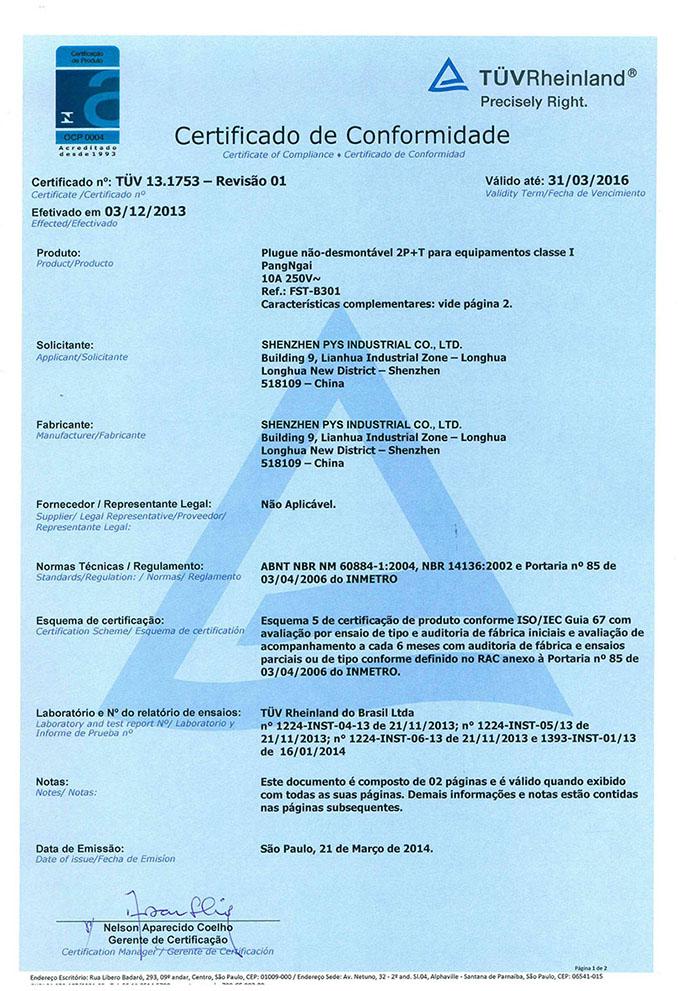 Certificado de Conformidate