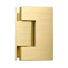 Brushed Gold Wall to Glass Shower Door Hinge