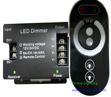 RF touchable dimmer controller