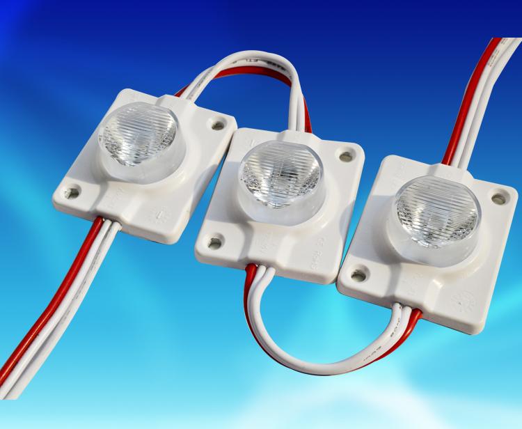 MDW191B,4336单颗大功率3535铝基板+光学透镜注塑DC12V防水侧打光模组